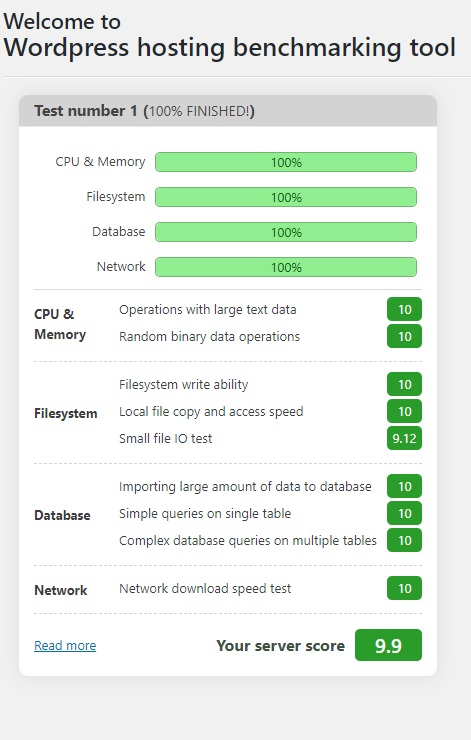 test benchmarking alma365